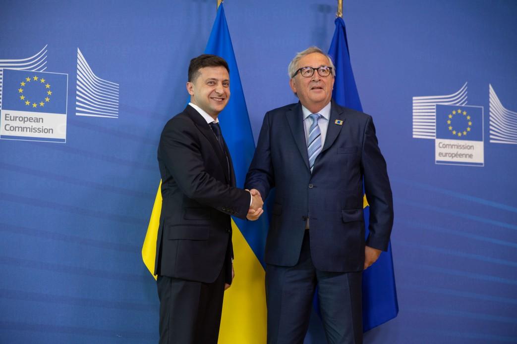 Президент України Володимир Зеленський зустрівся з Президентом Європейської Комісії Жан-Клодом Юнкером